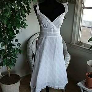 Calvin Klein White Summer Sleeveless Dress
